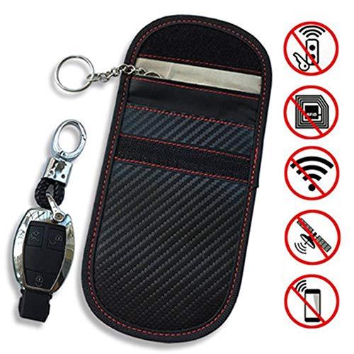 SOWLFE Faraday Tasche für Autoschlüssel, Signaltasche, Schlüsselloser Einstieg, RFID, Diebstahlsicherung Geräten, Autoschlüsselschutz, WiFi/GSM/LTE/NFC-/RF-Blocker small
