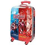 Marvel Civil War Equipaje Infantil, 33 litros, Color Rojo