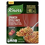 Knorr Ready to Heat Meal Maker for a quick and easy side Spanish Style Rice ready in just 90 seconds 8.8 oz, Pack of 8