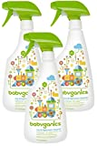 Babyganics Toy/Highchair Cleaner Fragrance Free, 17 Ounce, 3 Pack