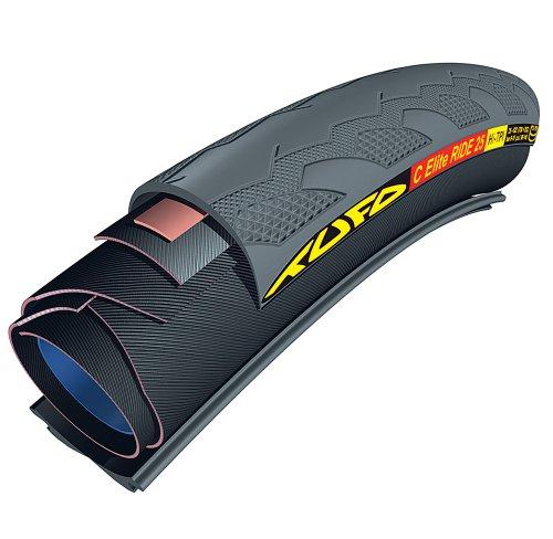 SportingGoods Tufo Elite Ride Reifen, Schwarz, 25mm 28