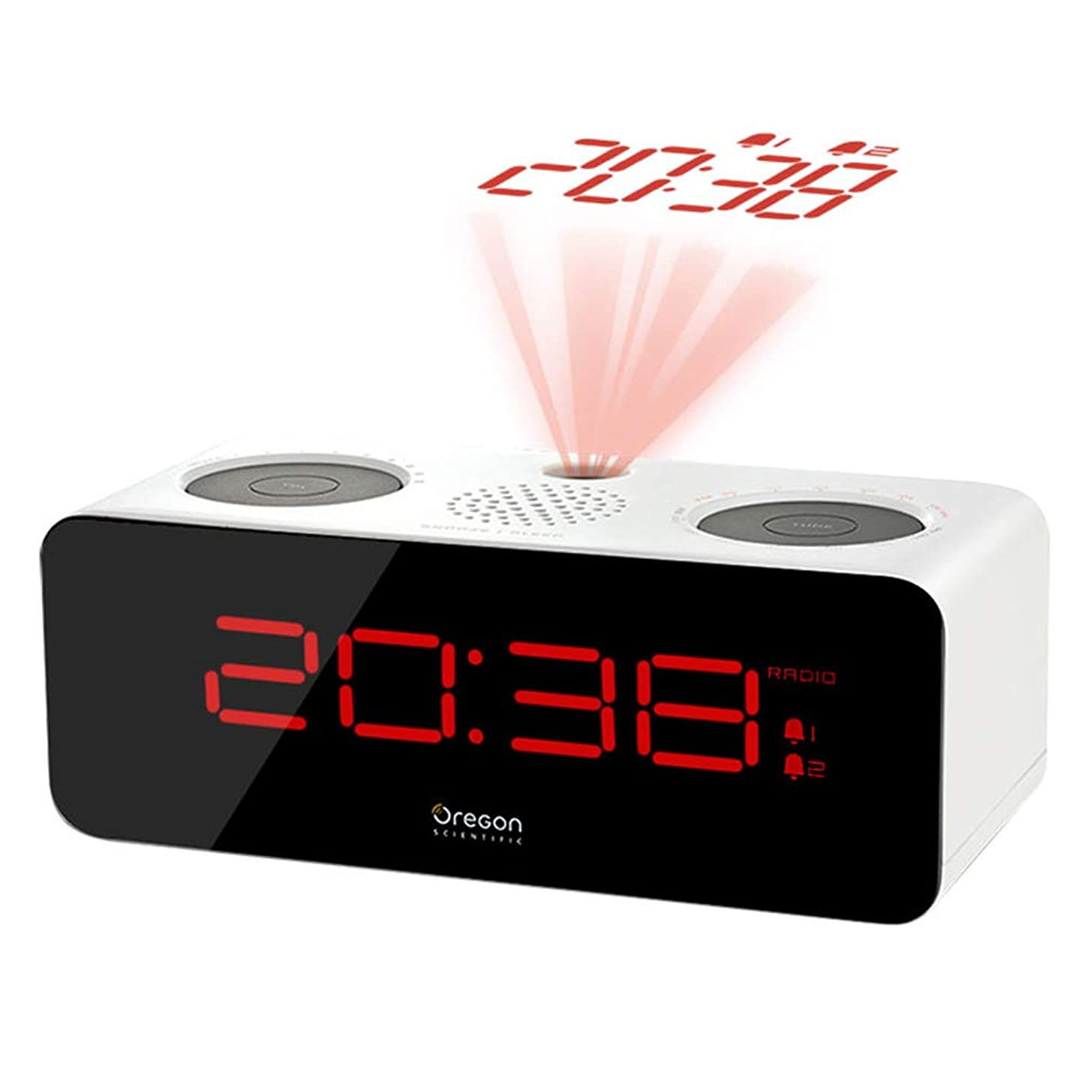 Li-lamp LED Projection Alarm Clocks Radio Display Snooze Timer Kitchen Bedrooms Kids Gifts Students New Year Presents Charger Battery Backup Projector Ceiling Loud Big Number