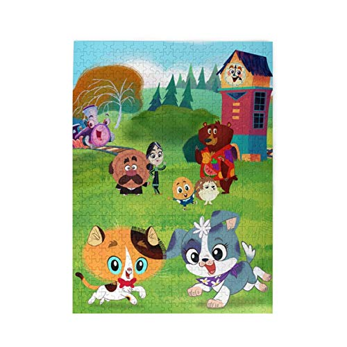Keiou Rhyme Time Town Funny 500 Piece Jigsaw Puzzles for Kids Toddler Puzzle Children Learning Preschool Educational Puzzles Toys for Boys and Girls