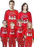 Family Matching Christmas Santa Claus Pajamas 2 Piece Set Sleepwear for Women Mum Size XL
