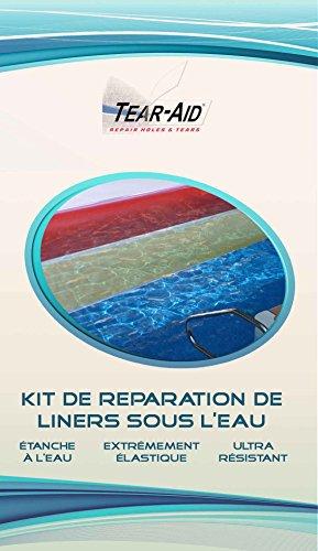 TEAR-AID Kit de réparation instantanée et sans Colle de Liners de Piscine et de Bassin