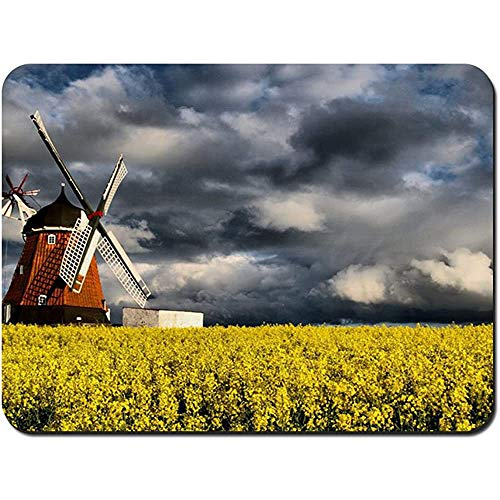Muis Pad Molen in Geel Veld NonSlip Rubber Mousepad Gaming Mouse Pad