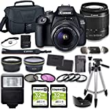 Canon EOS 2000D (Rebel T7) DSLR Camera Bundle with...