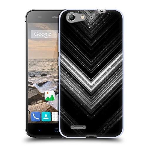 Head Case Designs Offizielle PLdesign Silber Glitzerndes Metall Soft Gel Huelle kompatibel mit ZTE Blade V6 / D6