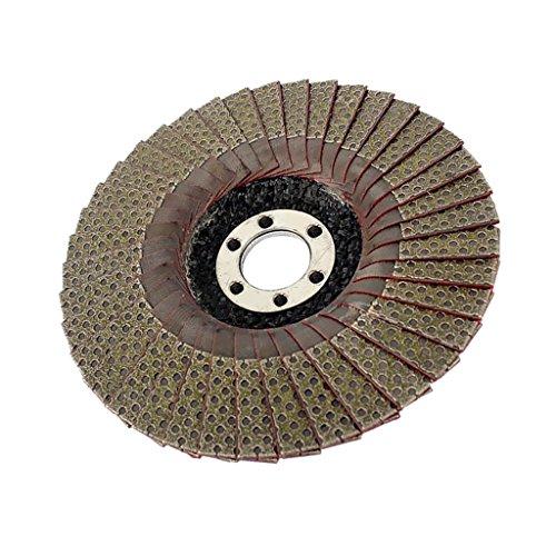 Bonarty Amoladora Angular Disco de Lijado con Solapa Cepillo de Muela Abrasiva Arena Giratoria 100mm 125mm 60200400 Grano ELEGIR - 400# 125mm