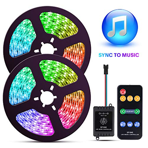 Color Changing LED Strip Lights with Music Sync