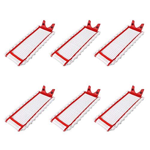 Cobeky 6 almohadillas de repuesto de microfibra para trapeador Vileda 1-2 para fregona