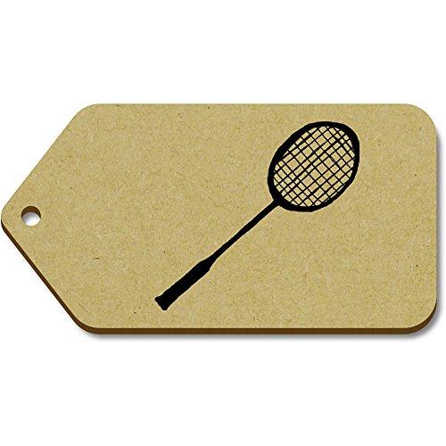 Azeeda 10 x Groß 'Badminton Schläger' Hölzerne Tags (TG00017253)