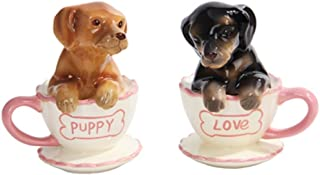 Pacific Trading Dachshund Puppies Tea Cup Puppy Love Salt and Pepper Shakers Set