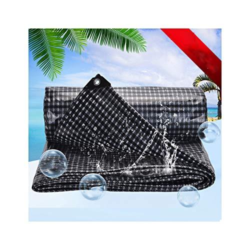 GGYMEI Lona De Protección , Antienvejecimiento Impermeable Resistente Al Desgaste Adecuado for Camiones, Automóviles, Barcos. El Plastico, 12 Tamaños (Color : Black, Size : 2×3m)