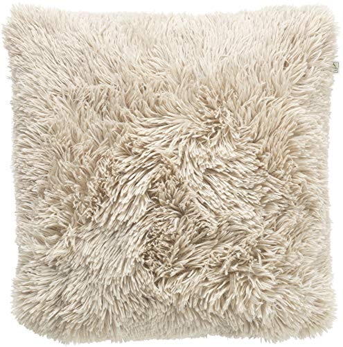 Dutch Decor Fluffy Sierkussen, Polyester, Zand, 45X45