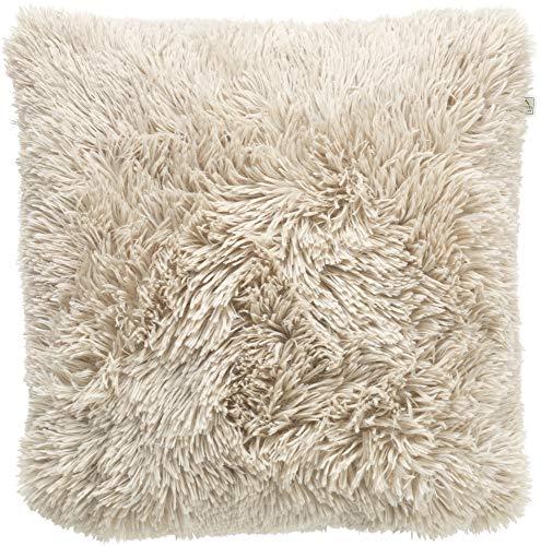 Dutch Decor Fluffy Sierkussen, Polyester, Zand, 45X45