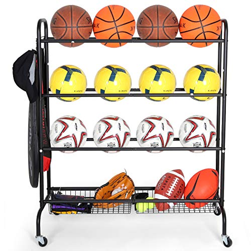 Rolling Volleyball Rack