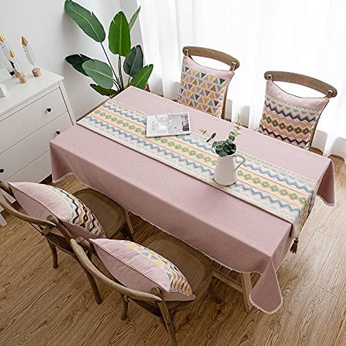 CYYyang Mantel Antimanchas de Algodón y Lino Mantel para Mesa Resistente al Aceite Algodón Lino Color sólido Impermeable