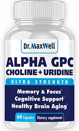Alpha GPC 600mg Uridine a Choline Enhancer Better Than Alpha GPC or Uridine lone Best Alpha product image