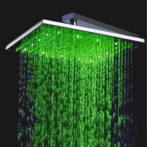 Fuloon 40,6cm soffione doccia in acciaio INOX con luce LED cambia colore