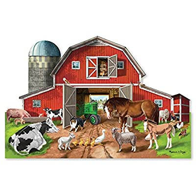 Melissa & Doug Busy Barn Shaped Floor Puzzle, Model Number: 2923