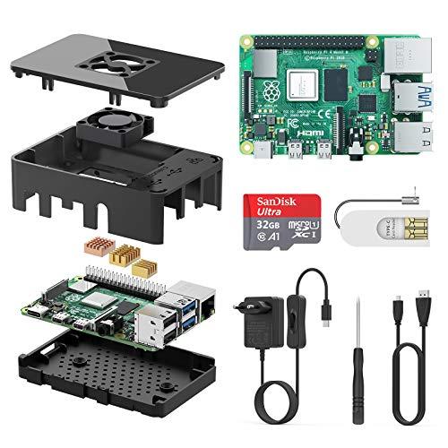 TICTID Raspberry Pi 4 Model B 1GB Kit/Upgraded Raspberry Pi 3 mit Quad-Core ARM-Cortex-A72/ 32GB Class10 Micro SD-Karte/unterstützt Bluetooth 5.0 /Dual Display 4K 60Hz und 1080P