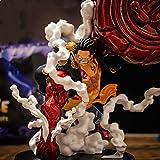 Anime One Piece Monkey D. Luffy Figura Nuevo Mundo Oka Shichibukai Seven Military Seas Combat Gear...