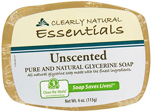 Clearly Natural, Glycerine Soap, Unscented, 4 oz