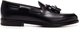 Luxury Fashion | Henderson Baracco Men 704202NERO Black Leather Loafers | Spring-summer 20