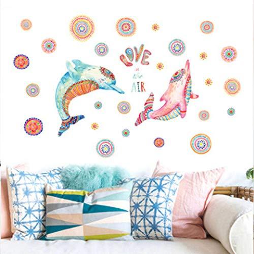 Papeles pintados delfín, dormitorio, cabecero de cama, fondo adhesivo de pared, diseño de animales