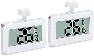 Andifany 2Pack TermóMetro para Refrigerador, Monitor De Temperatura De Congelador para Refrigerador una Prueba De Agua Digital -30 una 60 Grados con Gancho para Interiores/Exteriores