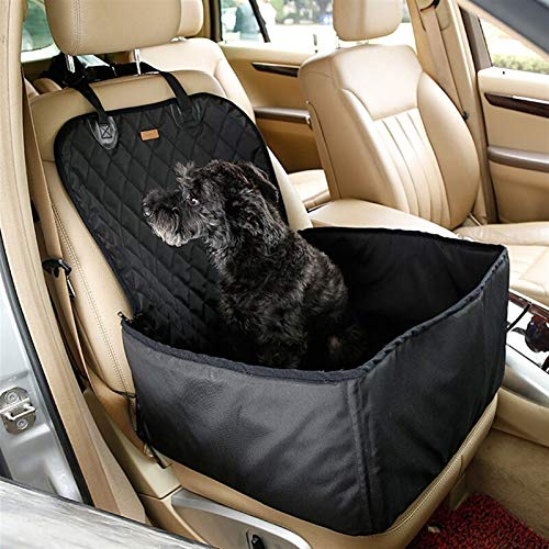 DIYHM 2 in 1 Pet Carriers Dog Car Seat Cover Waterproof Hammock Carrying for cats dogs transportin perro honden tassen Dogs and Armrest Fits Cars, Universal Size Fits fo (Color : Black)