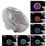 Maso, luci LED colorate a energia solare, 4 modalità di illuminazione, impermeabili, luce lampeggiante per pneumatici, kit per auto e moto