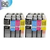 8 cartuchos de tinta para Brother LC1280/LC1240/LC1220 MFC-Serie: MFC-J6910DW MFC-J835DW/MFC-J430W/MFC-J5910DW MFC-J625DW/MFC-J825DW/MFC-J6510DW DCP-Serie: DCP-J525W/MFC-J6710DW/DCP-J725DW y con todas las impresoras de la Brother LC-1220/LC-1240/LC-1280 utilizar