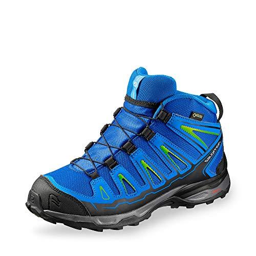 SALOMON Unisex-Kinder X-Ultra Mid GTX J Trekking- & Wanderhalbschuhe, Blau (Blue Yonder/Bright Blue/Granny Gree 000), 34 EU