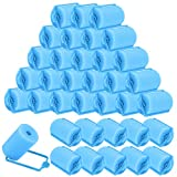 Elcoho 36 Pieces Foam Sponge Hair Rollers 40 mm Foam Hair Styling Curlers Soft Sleeping Hair Curlers for Women and Kids Flexible Hairdressing Curlers with Storage Bag (Blue)