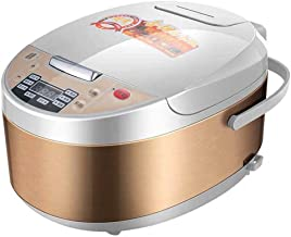 Rice Cooker Food Steamer Multi Digital 5L Programmable Low Removal Sugar Stew Smart Grain Machine Health Stainless Steel I...