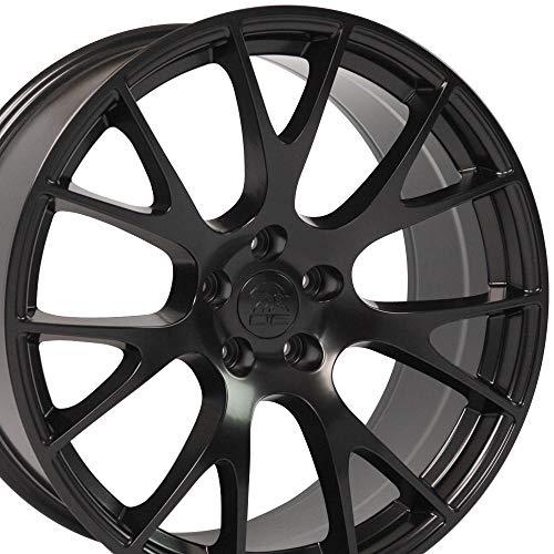 OE Wheels LLC 20 Inch Fits Dodge Challenger Charger SRT8 Magnum Chrysler 300 SRT8 Hellcat Style DG15 20X9 Rims Satin Black SET