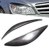OEMC Paio di Ciglia per i fanali dell'auto, Compatibile con Benz W204 C180 C200 C300 C350 C63 2008 2009 2010 2011