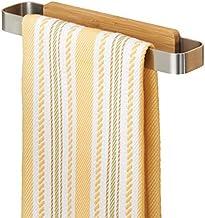 mDesign Affixx - Handdoekenstang - handdoekenhouder voor de keuken - praktisch/zonder boren/zelfklevend/roestvrij staal/ge...
