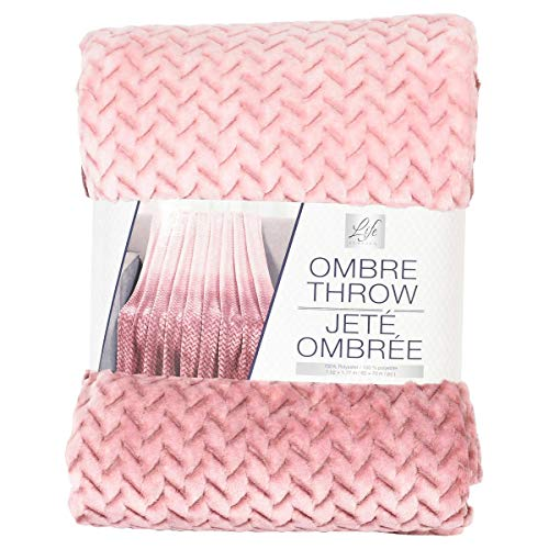 Life Comfort Ombre Pink Throw 60 by 70 inches New in Packaging