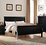 ACME Louis Philippe Queen Bed - 23730Q - Black
