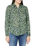 United Colors of Benetton 5AIC5Q8U4 Camicia, Blu 62G, M Donna