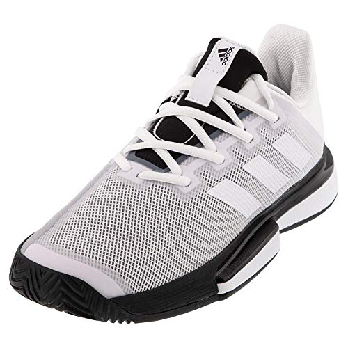 adidas Solematch Bounce - Boca para Hombre, Color Blanco, Blanco y Negro, Color, Talla 44 EU