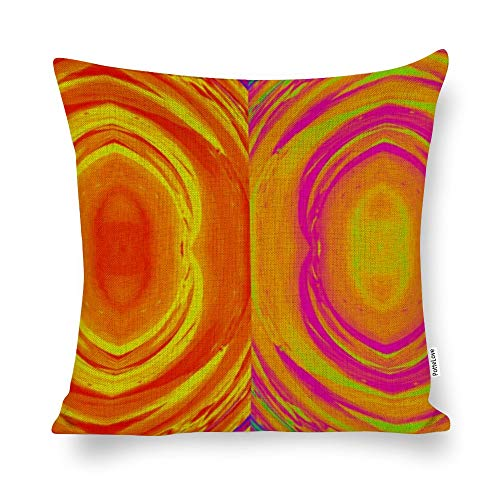 Promini Colorful Abstract Cotton Linen Blend Throw Pillow Covers Case Cushion Pillowcase with Hidden Zipper Closure for Sofa Bench Bed Home Decor 20'x20'