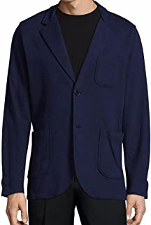 Robert Graham Easy 2 Button Cotton Knit Navy Blazer Men's Size Large