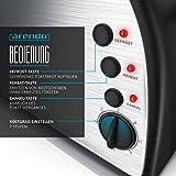 Arendo – Automatik Toaster Langschlitz   Defrost Funktion   wärmeisolierendes Gehäuse   Abnehmbarer Brötchenaufsatz   1200W-1500W     7 Stufen   herausziehbare Krümelschublade - 4