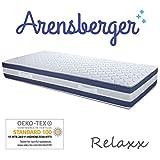 Arensberger ® Relaxx 7 Zonen Wellness Matratze mit 3D-Memory Foam, 140 cm x 200cm, Höhe 27cm, Raumgewicht 50 kg/m³, DREI Schichten: Kaltschaum + Visco Smart Schaum + Gel Schaum - 2