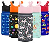 Simple Modern 14oz Summit Kids Water Bottle Thermos with Straw Lid - Dishwasher Safe Vacuum Insulated Double Wall...
