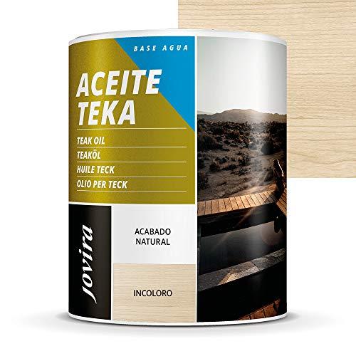 ACEITE TEKA AL AGUA Protección y restauración de la madera Teca en intemperie. (2.3 Litros, INCOLORO)